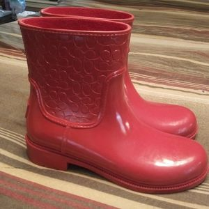 MAKE AN OFFER Womens Coach Rainboot